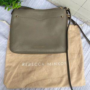 Rebecca minkoff 🍁🍂gray leather crossbody